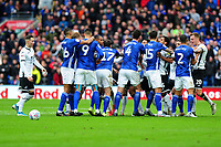 Tempers flair between players during the Sky Bet Championship match between Cardiff City and Swansea City at the Cardiff City Stadium in Cardiff, Wales, UK. Sunday 12 January 2020