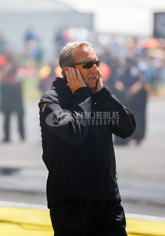 May 7, 2017; Commerce, GA, USA; NHRA team owner Don Schumacher during the Southern Nationals at Atlanta Dragway. Mandatory Credit: Mark J. Rebilas-USA TODAY Sports
