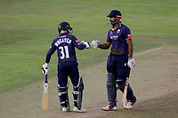 Adam Wheater and Varun Chopra of Essex enjoy a useful partnership during Glamorgan vs Essex Eagles, Vitality Blast T20 Cricket at the Sophia Gardens Cardiff on 7th August 2018