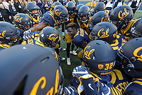 BERKELEY, CA - September 17, 2016: The Cal Bears Football team vs the University of Texas Longhorns at Cal Memorial Stadium in Berkeley California. Final score: Cal Bears 50, Texas Longhorns 43