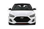 Car photography straight front view of a 2019 Hyundai Veloster Turbo Ultimate 5 Door Hatchback