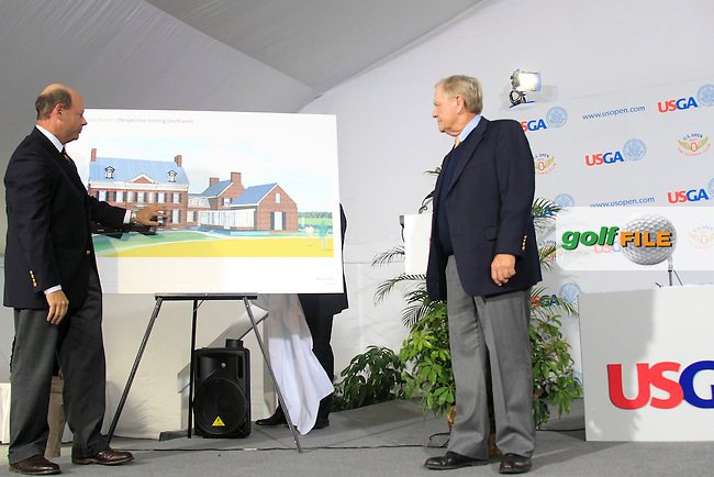 USGA Executive Officer Mike Davis at a press conference to announce the launch of a new film commerating Jack's 1962 US Open victory and to dedicate The US Open Champion's Medal in Jack's name and plans to expand the USGA Museum with a Jack Nicklaus Room during Wednesday's Practice Day of the 112th US Open Championship at The Olympic Club, San Francisco,  California, 13th June 2012 (Photo Eoin Clarke/www.golffile.ie)