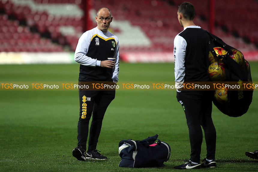 Norwich Manager. Alex Neil, pre-match during Brentford vs Norwich City, Sky Bet EFL Championship Football at Griffin Park on 31st December 2016