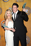 LOS ANGELES, CA. - January 23: Dianna Agron and Cory Monteith pose in the press room at the 16th Annual Screen Actors Guild Awards held at The Shrine Auditorium on January 23, 2010 in Los Angeles, California.