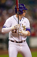 LSU Tigers infielder Danny Zardon (27) at bat during the NCAA baseball game against the Houston Cougars on March 6, 2015 at Minute Maid Park in Houston, Texas. LSU defeated Houston 4-2. (Andrew Woolley/Four Seam Images)
