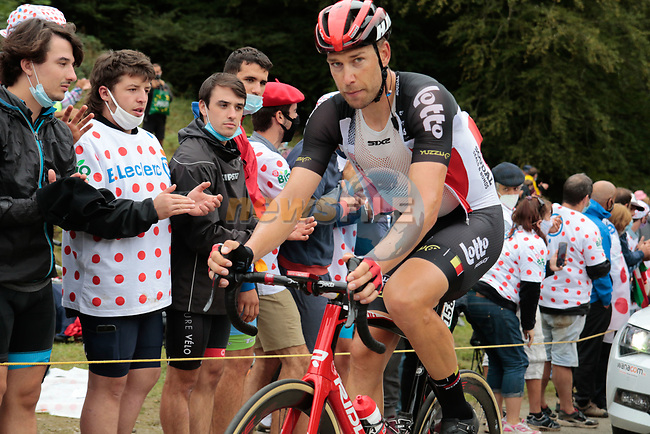 Roger Kluge (GER) Lotto Soudal climbs Col de Marie Blanque during Stage 9 of Tour de France 2020, running 153km from Pau to Laruns, France. 6th September 2020. <br /> Picture: Colin Flockton | Cyclefile<br /> All photos usage must carry mandatory copyright credit (© Cyclefile | Colin Flockton)