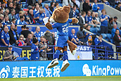 9th September 2017, King Power Stadium, Leicester, England; EPL Premier League Football, Leicester City versus Chelsea; The Leicester City mascot working hard to entertain the fans