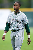 Shortstop Tim Beckham (6) of the Princeton Rays prior to the start of the game versus the Pulaski Mariners at Calfee Field in Pulaski, VA, Sunday July 6, 2008. (Photo by Brian Westerholt / Four Seam Images)