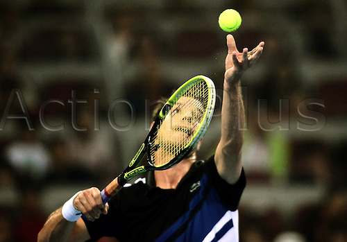 Oct 05, 2013; Beijing, CHINA; Novak Djokovic of Serbia defeats Richard Gasquet of France 2:0 (6-4, 6-2) during a men's semifinal match at the Tennis China Open.