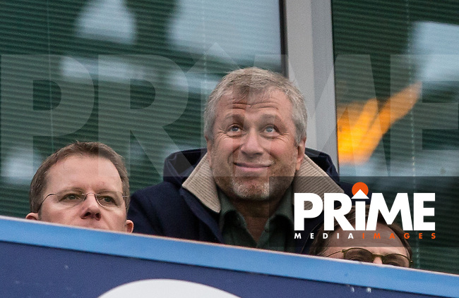 Chelsea Chairman Roman Abramovich during the FA Cup 5th round match between Chelsea and Manchester City at Stamford Bridge, London, England on 21 February 2016. Photo by Andy Rowland.