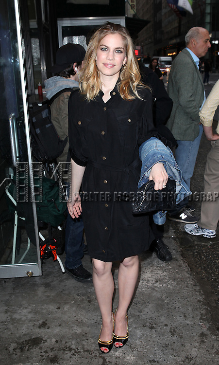 Anna Chlumsky.attending the Off-Broadway Opening Night Performance of  the Second Stage Theatre's 'Lonely, I'm Not' in New York City on 5/7/2012.