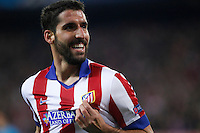 Atletico de Madrid´s Raul Garcia celebrates a goal during Champions League soccer match between Atletico de Madrid and Olympiacos at Vicente Calderon stadium in Madrid, Spain. November 26, 2014. (ALTERPHOTOS/Victor Blanco) /NortePhoto