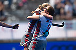 Krefeld, Germany, May 18: During the Final4 semi-final fieldhockey match between UHC Hamburg and Club an der Alster on May 18, 2019 at Gerd-Wellen Hockeyanlage in Krefeld, Germany. (worldsportpics Copyright Dirk Markgraf) *** Kathryn Mary Mullan #9 of Club an der Alster