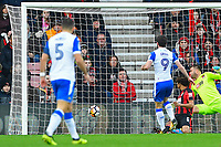 Will Grigg of Wigan Athletic (9) puts Wigan Athletic ahead during AFC Bournemouth vs Wigan Athletic, Emirates FA Cup Football at the Vitality Stadium on 6th January 2018