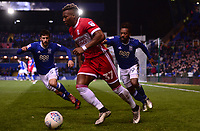 Adama Traore of Middlesbrough in chased down by Maxime Colin of Birmingham and Jacques Maghoma of Birmingham during the Sky Bet Championship match between Birmingham City and Middlesbrough at St Andrews, Birmingham, England on 6 March 2018. Photo by Bradley Collyer / PRiME Media Images.