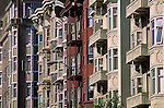 Homes townhouses in the North Beach district San Francisco California USA