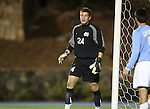 11 October 2007: UNC's Tyler Deric. The University of North Carolina Tar Heels defeated the Duke University Blue Devils 1-0 in overtime at Fetzer Field in Chapel Hill, North Carolina in an Atlantic Coast Conference NCAA Division I Men's Soccer game.