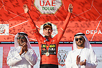 Race leader Primoz Roglic (SLO) Team Jumbo-Visma retains the Red Jersey at the end of Stage 3 of the 2019 UAE Tour, running 179km form Al Ain to Jebel Hafeet, Abu Dhabi, United Arab Emirates. 26th February 2019.<br /> Picture: LaPresse/Fabio Ferrari | Cyclefile<br /> <br /> <br /> All photos usage must carry mandatory copyright credit (© Cyclefile | LaPresse/Fabio Ferrari)