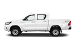 Car Driver side profile view of a 2016 Toyota Hilux GL 4 Door Pickup Side View
