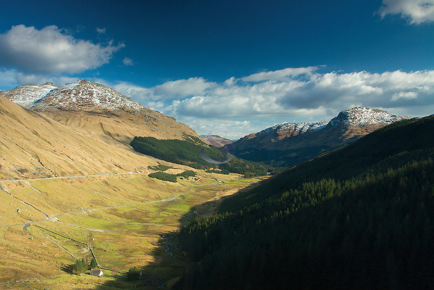Glen Croe, The Cobbler (Ben Arthur) and The Brack from the Rest and Be Thankful, Argyll & Bute