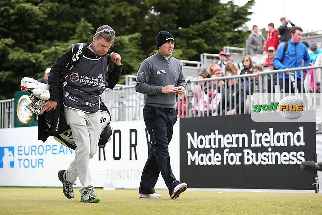 Richie Ramsey (SCO) begins Round Three of the 2015 Dubai Duty Free Irish Open Hosted by The Rory Foundation at Royal County Down Golf Club, Newcastle County Down, Northern Ireland. 30/05/2015. Picture David Lloyd | www.golffile.ie