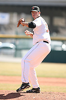 April 14th, 2008:  Scott Elarton (34) of the Buffalo Bisons, Class-AAA affiliate of the Cleveland Indians, during a game at Dunn Tire Park in Buffalo, NY.  Photo by:  Mike Janes/Four Seam Images