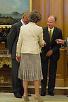13.09.2012. Queen Sofia of Spain attends in audience a group of Fundación Félix Rodríguez de la Fuente and the Executive Committee of ´10th World Wilderness Congress´, chaired by Ms Marcelle Genevieve Parmentier Lepied in the Zarzuela Palace, Madrid. In the image Queen Sofia of Spain (Alterphotos/Marta Gonzalez)