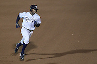 Scranton Wilkes-Barre Yankees outfielder Greg Golson #2 runs the bases during a game against the Rochester Red Wings at Frontier Field on April 12, 2011 in Rochester, New York.  Scranton defeated Rochester 5-3.  Photo By Mike Janes/Four Seam Images
