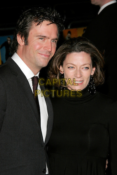 """JACK DAVENPORT & MICHELLE GOMEZ.""""The Boat That Rocked"""" world film premiere at The Odeon, Leicester Square, London, England..March 23rd, 2009.half length black suit coat married husband wife .CAP/AH.©Adam Houghton/Capital Pictures."""