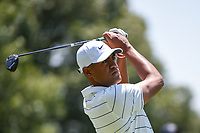 Tony Finau (USA) during the 1st round at the WGC Fedex, TPC Southwinds, Memphis, Tennessee, USA. 25/07/2019.<br /> Picture Ken Murray / Golffile.ie<br /> <br /> All photo usage must carry mandatory copyright credit (© Golffile | Ken Murray)
