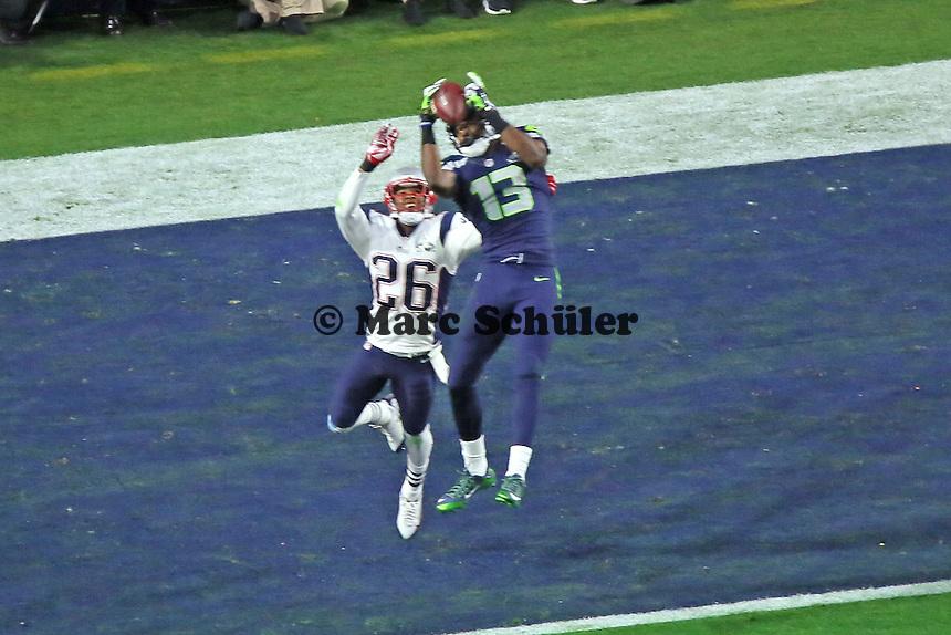 TD Chris Matthews (Seahawks)gegen CB Logan Ryan (Patriots) zum 14:14 - Super Bowl XLIX, Seattle Seahawks vs. New England Patriots, University of Phoenix Stadium, Phoenix