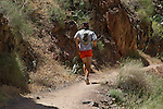 Trail runner at Phantom Ranch in Grand Canyon National Park, Arizona. . John offers private photo tours in Grand Canyon National Park and throughout Arizona, Utah and Colorado. Year-round.