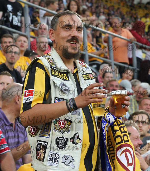 A Dynamo Dresden fan before the Dynamo Dresden v Everton match in the Bundeswehr Karriere Cup Dresden 2016 played at the DDV Stadion, Dresden on 29.7.16.