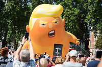 Protests as Donald Trump visits the UK in London on 13 July 2018. Photo by Andy Rowland.