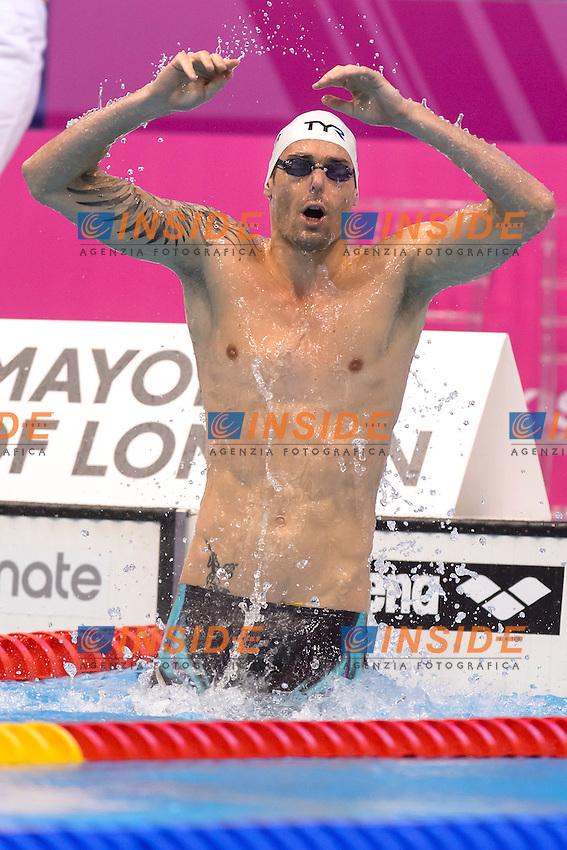 Camille LACOURT FRA Gold Medal <br /> 50m Backstroke Men Final  <br /> London, Queen Elizabeth II Olympic Park Pool <br /> LEN 2016 European Aquatics Elite Championships <br /> Swimming<br /> Day 11 19-05-2016<br /> Photo Andrea Staccioli/Deepbluemedia/Insidefoto