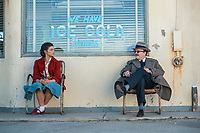 Jefferson Mays &amp; India Eisley<br /> I Am the Night (2019 - ) <br /> One Day She'll Darken  Ep 101   <br /> *Filmstill - Editorial Use Only*<br /> CAP/RFS<br /> Image supplied by Capital Pictures