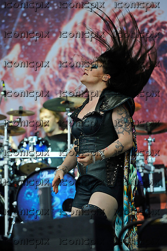 NIGHTWISH - performing live on Day Three on the Lemmy Stage at the Download Festival at Donington Park UK - 12 Jun 2016.  Photo credit: ZAine Lews/IconicPIxi