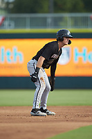 Romy Gonzalez (6) of the Kannapolis Intimidators takes his lead off of second base against the Augusta GreenJackets at SRG Park on July 6, 2019 in North Augusta, South Carolina. The Intimidators defeated the GreenJackets 9-5. (Brian Westerholt/Four Seam Images)