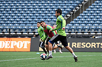 SEATTLE, WA - NOVEMBER 9: Nicolas Lodeiro #10 of the Seattle Sounders FC runs with the ball at CenturyLink Field on November 9, 2019 in Seattle, Washington.