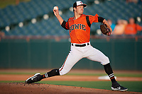 Bowie Baysox pitcher Tyler Herb (26) during an Eastern League game against the Richmond Flying Squirrels on August 15, 2019 at Prince George's Stadium in Bowie, Maryland.  Bowie defeated Richmond 4-3.  (Mike Janes/Four Seam Images)