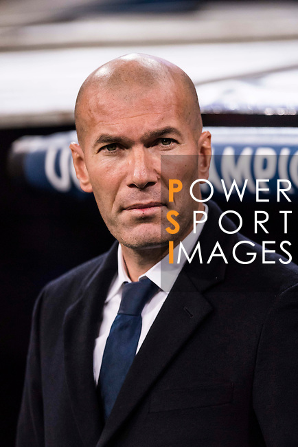 Coach Zinedine Zidane of Real Madrid prior to the 2016-17 UEFA Champions League match between Real Madrid and Borussia Dortmund at the Santiago Bernabeu Stadium on 07 December 2016 in Madrid, Spain. Photo by Diego Gonzalez Souto / Power Sport Images
