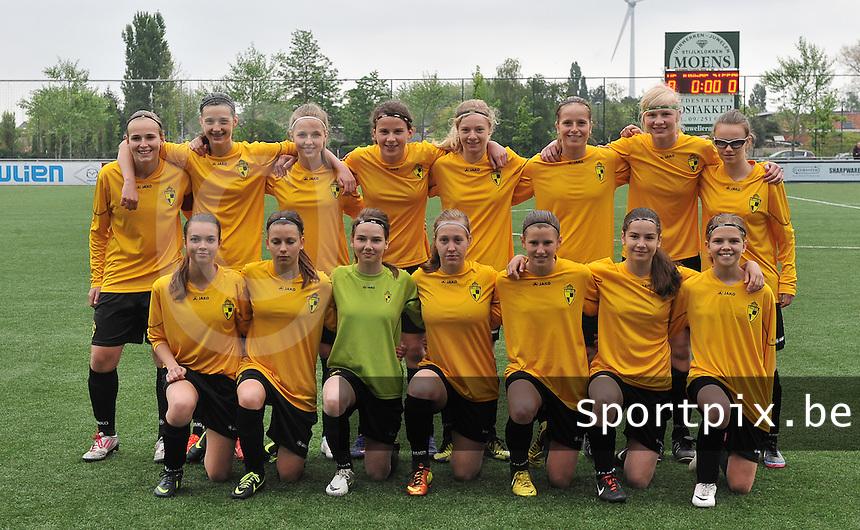 Lierse U16 - Standard de Liege U16 : ploegfoto Lierse.foto DAVID CATRY / Nikonpro.be