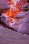 Inside Lower Antelope Canyon near Page Arizona