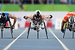 RIO DE JANEIRO - 9/9/2016:  Brent Lakatos competes in the Men's 100m - T53 Final in the Olympic Stadium during the Rio 2016 Paralympic Games. (Photo by Matthew Murnaghan/Canadian Paralympic Committee