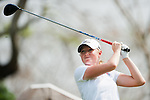 CHON BURI, THAILAND - FEBRUARY 16:  Stacy Lewis of USA tees off on the 18th green during day one of the LPGA Thailand at Siam Country Club on February 16, 2012 in Chon Buri, Thailand.  Photo by Victor Fraile / The Power of Sport Images
