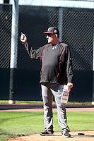 Dave Magadan, hitting coach - Arizona Diamondbacks 2016 spring training (Bill Mitchell)