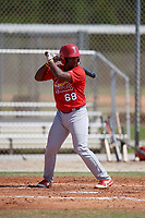 St. Louis Cardinals Cristhian Longa (68) during a Minor League Spring Training Intrasquad game on March 28, 2019 at the Roger Dean Stadium Complex in Jupiter, Florida.  (Mike Janes/Four Seam Images)