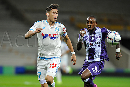 23.09.2015. Toulouse, France. French League 1 football. Toulouse versus Marseille.  Lucas Ocampos (om)