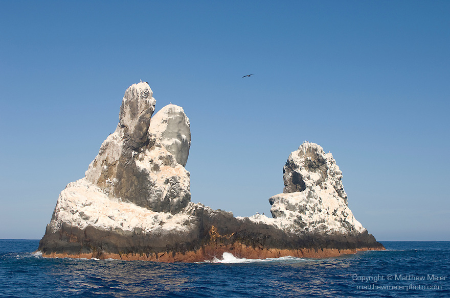 Roca Partida Island, Revillagigedos Islands, Mexico; views of Roca Partida from the Solmar V dive boat , Copyright © Matthew Meier, matthewmeierphoto.com All Rights Reserved
