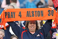 New England Revolution fan comments on Kevin Alston illness.In a Major League Soccer (MLS) match, the New England Revolution (blue/red) defeated Philadelphia Union (blue/white), 2-0, at Gillette Stadium on April 27, 2013.